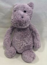 "Jellycat Bashful Lilac Purple Hippo Plush 12"" Small Soft Stuffed Animal Lovey"