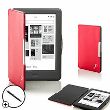 Red Smart Shell Case Cover for Kobo Touch 2.0 eReader with Free Stylus