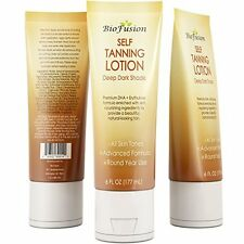 Self Tanning Lotion Deep Dark Shade Round Year Use All Skin Tones by Biofusion