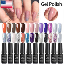 LILYCUTE 7ml Nail Gel Polish UV LED Soak Off Nail Art Gel Varnish Base Top coat