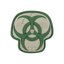 "NEW Maxpedition ""Biohazard Skull"" - Arid - 3D Velcro-backed Morale Patch"