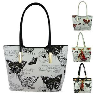 Large Bag Vintage Handbag Ladies Backpack Long Handle Butterfly 260