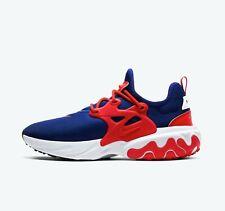Nike reaccionar presto CW5586-400 Real Azul Rojo Blanco EE. UU. para Hombres Zapatos Ropa Deportiva Nuevo En Caja