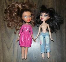 Bratz 2001 Vintage Dolls Yasmin? Sasha? Set of 2 No feet Freckle under eye Rare