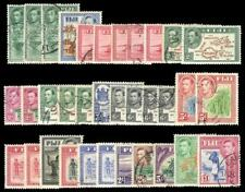 Fiji 1938 KGVI set complete inc all listed shades and perfs VFU. SG 249-266b.