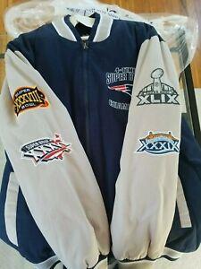 Patriots Super Bowl Jacket Carl Banks GIII Rare Limited 4x Champion Edition