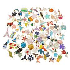 10PCS Mixed Enamel Alloy Random Assorted Pendant Charms for Bracelet Necklace