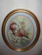Home Interiors Oval '' Love Doves ''  Gorgeous 13'' x 17.5''