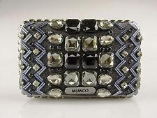MIMCO Last Dance Hardcase Black Denim RRP$229 Crystal Clutch Evening Bag Handbag