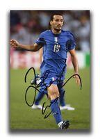 GIANLUCA ZAMBROTTA HAND SIGNED 12X8 PHOTO - FOOTBALL AUTOGRAPH - ITALY.