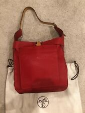 762953231d5d Brand New Hermes Red Clemence Leather Marwari PM Shoulder Tote Bag