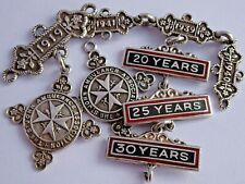 St John ambulance solid silver fob medals and bars. Various dates from 1917-1938