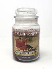 """Yankee Candle Retired """"HAZELNUT COFFEE""""~ Large 22 oz ~ RARE Used"""