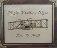 "1987 Counted Cross Stitch Embroidery Kit ""Wright Brothers' Flyer""  8x10 2336F"