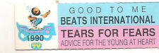 STICKER JUKE BOX  - BEATS INTERNATIONAL - TEARS FOR FEARS - ADVICE FOR THE YOUNG