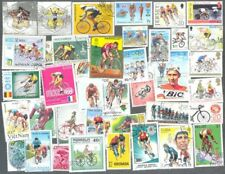 Cycling-Bicycles-200 all different stamps collection