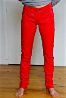 sexy pantalon faux cuir orange MET AND FRIENDS bidys T 29 (38/40) NEUF val. 189€