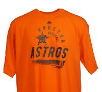 Houston Astros Brite Orange MLB Majestic 2ndary T-Shirt, Men's Big and Tall, nwt