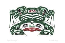 Copper Tone Frog Richard Shorty Art Card Northern Tuchone Yukon Native