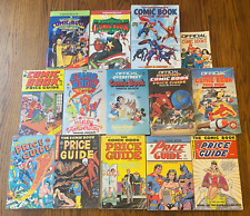 LOT: 14 COMIC BOOK PRICE GUIDE (13 OVERSTREET) #10-17 Spans 20-42 VTG Reference