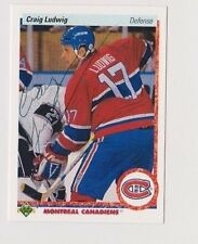 90/91 Upper Deck Craig Ludwig Montreal Canadiens Autographed Hockey Card