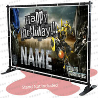 Transformers Birthday Banner Personalized Party Backdrop Decorations kid