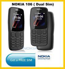 Nokia 106 Dual Sim 2018 gris oscuro con LED Antorcha-Fm Radio-Big Button teléfono
