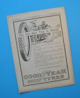 1924 Indian Scout Chief Harley JDS FD Goodyear Motorcycle Tire Ad Advertisement