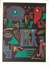 Frédéric VOISIN né en 1957.Comp.abstraite.1988.Lithographie.SBD.EA.XV/XXXV.60x47