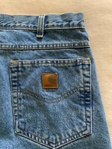 "CARHARTT Straight Fit Men's Blue Jeans Size 34 x 32"" **"