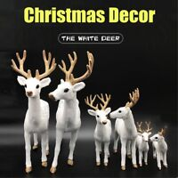 White Deer Christmas Ornament Reindeer Xmas Cute Doll Home Party Decoration Gift