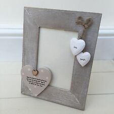 Shabby personalised Chic Photo Frame Auntie & Uncle Great Aunty Gift  Present