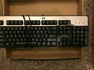 Keyboard PS/2 Serial HP Hewlett Packard English Wired KB-0316 Both Legs Work!