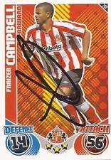 Fraizer Campbell Firmado Sunderland 2010/2011 Match Attax Trading Card + certificado De Autenticidad