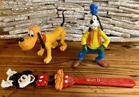 Vintage Walt Disney Productions Pluto Dog With Goofy And Mickey Back Scratcher