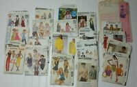 Lot of 20 Vtg 1970s 80s Womens Sewing Patterns Simplicity McCalls Various Sizes