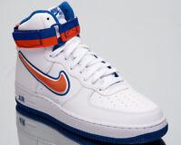 Nike Air Force 1 High '07 LV8 Sport NBA Knicks Men New White Orange AV3938-100
