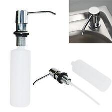 Kitchen Sink Soap Dispenser Brushed Nickel Head SUS304 ABS Bottle U0