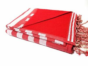 """Extra Large 100%Turkish Cotton Beach Bath Poo 39"""" X 72""""  Red two sided"""