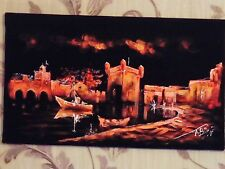 Maroc Essaouira Port eau Peinture vrac vendre 3 peintures