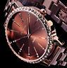 Excellanc Damen Armband Uhr Braun Rose Gold Farben Metall Strass