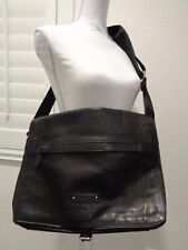 Ralph Lauren Black leather Messenger Satchel Briefcase Attache