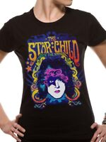 KISS the Star Child Paul Stanley Official American Rock Black Womens T-shirt