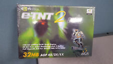NEW Nvidia E-TNT2 M64 AGP Video Graphics Card 32MB - 032-A4-NV02-S1