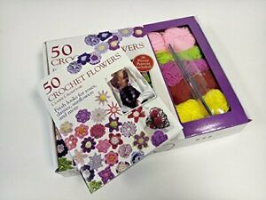 50 Crochet Flowers by Avec Trade Ltd Book The Cheap Fast Free Post