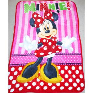 Kids Girls All Season Fur Fluffy Fleece Mink Blanket Minnie Mouse Polar Throw