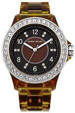 Karen Millen K130 en simili écaille de tortue bracelet case crystal set 2Yr qr rrp £ 135
