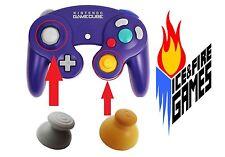 New Joystick Cap Set for Nintendo Gamecube Controller - Gray & Yellow