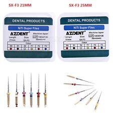 10 X Azdent Dental Endo Niti Rotary File Taper Engine Use Super Sx F3 25mm21mm