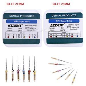 AZDENT Dental Endo NiTi Taper Engine Use Super Rotary File SX-F3 25mm/21mm